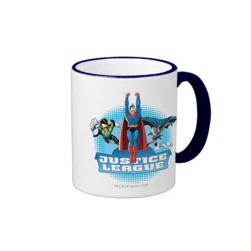 Justice League Power Trio Ringer Coffee Mug
