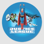 Justice League Power Trio Round Sticker