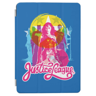 Justice League | Retro Group & Logo Pop Art iPad Air Cover
