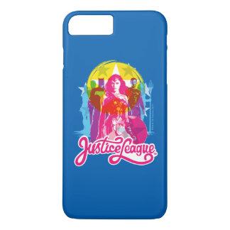 Justice League | Retro Group & Logo Pop Art iPhone 8 Plus/7 Plus Case