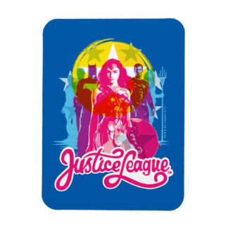 Justice League | Retro Group & Logo Pop Art Magnet