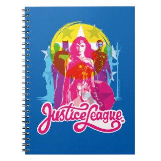 Justice League | Retro Group & Logo Pop Art Notebook