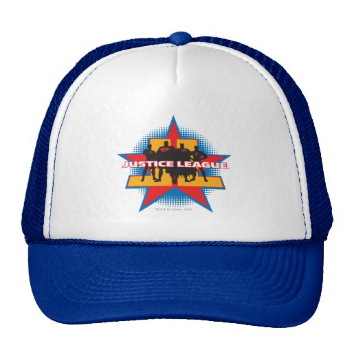 Justice League Silhouettes and Star Background Trucker Hat