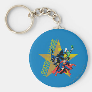 Justice League Star Heroes Basic Round Button Key Ring