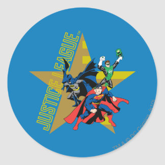 Justice League Star Heroes Round Sticker