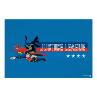 Justice League Stars and Stripes Poster