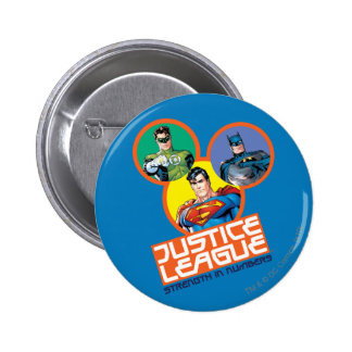 "Justice League ""Strength in Numbers"" 6 Cm Round Badge"