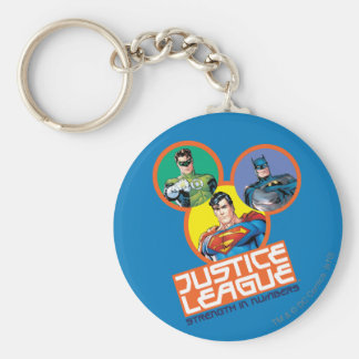 "Justice League ""Strength in Numbers"" Basic Round Button Key Ring"