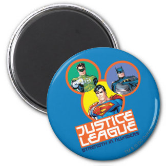 """Justice League """"Strength in Numbers"""" Fridge Magnet"""