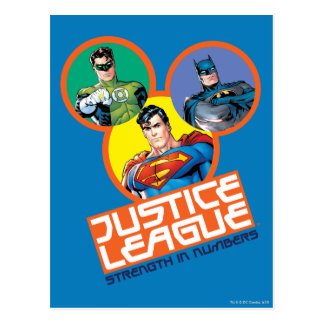 "Justice League ""Strength in Numbers"" Postcard"