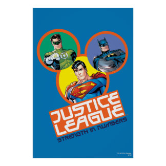 """Justice League """"Strength in Numbers"""" Poster"""