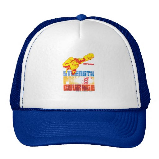 Justice League Strength. Power. Courage. Character Hat