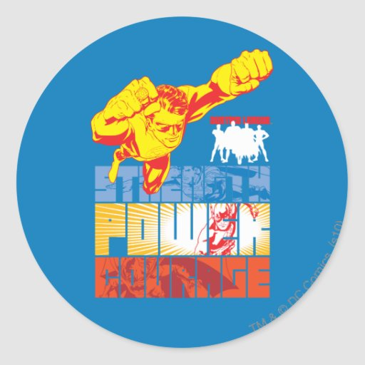 Justice League Strength. Power. Courage. Character Sticker