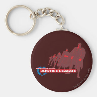 Justice League Strength. Power. Courage. Ensemble Basic Round Button Key Ring