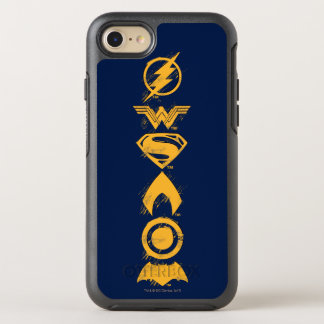 Justice League | Stylized Team Symbols Lineup OtterBox Symmetry iPhone 8/7 Case