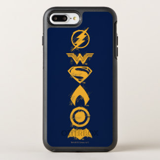 Justice League | Stylized Team Symbols Lineup OtterBox Symmetry iPhone 8 Plus/7 Plus Case