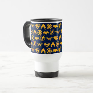 Justice League | Stylized Team Symbols Lineup Travel Mug