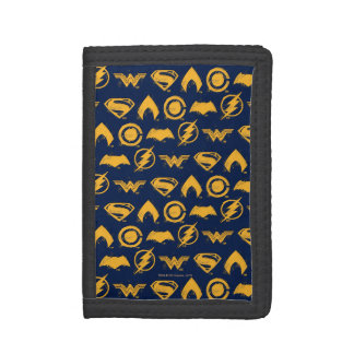 Justice League | Stylized Team Symbols Lineup Trifold Wallet