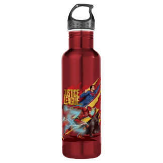 Justice League | Superman, Flash, & Batman Badge 710 Ml Water Bottle