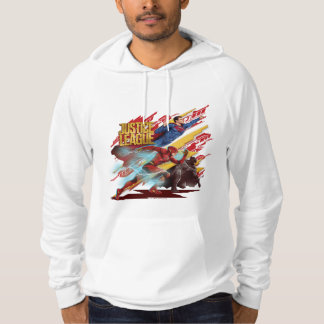 Justice League | Superman, Flash, & Batman Badge Hoodie