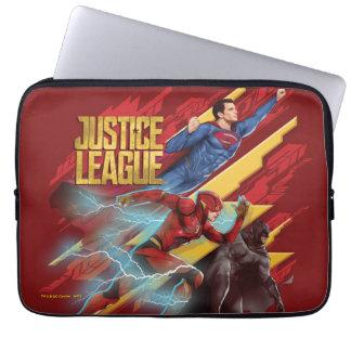 Justice League   Superman, Flash, & Batman Badge Laptop Sleeve