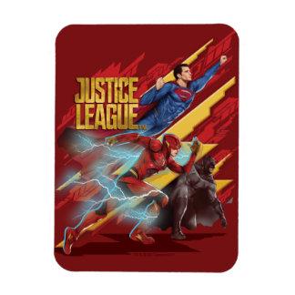 Justice League | Superman, Flash, & Batman Badge Magnet