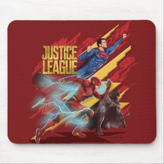 Justice League | Superman, Flash, & Batman Badge Mouse Pad