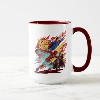 Justice League | Superman, Flash, & Batman Badge Mug