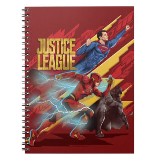 Justice League | Superman, Flash, & Batman Badge Notebooks