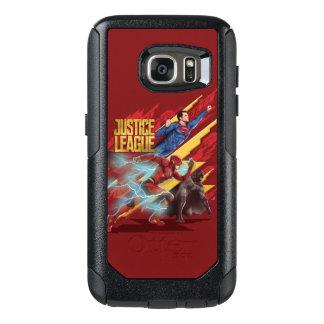 Justice League   Superman, Flash, & Batman Badge OtterBox Samsung Galaxy S7 Case
