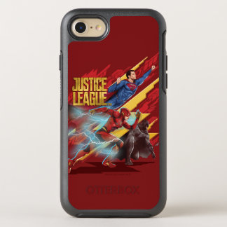 Justice League | Superman, Flash, & Batman Badge OtterBox Symmetry iPhone 8/7 Case