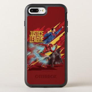 Justice League | Superman, Flash, & Batman Badge OtterBox Symmetry iPhone 8 Plus/7 Plus Case