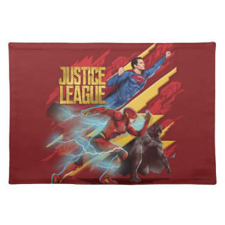 Justice League | Superman, Flash, & Batman Badge Placemat