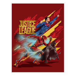 Justice League | Superman, Flash, & Batman Badge Postcard