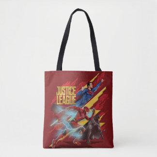 Justice League   Superman, Flash, & Batman Badge Tote Bag