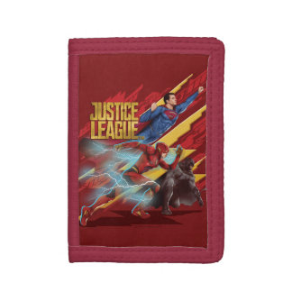 Justice League | Superman, Flash, & Batman Badge Tri-fold Wallet