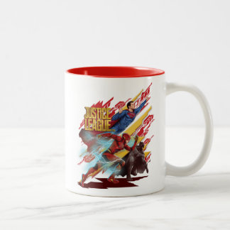 Justice League | Superman, Flash, & Batman Badge Two-Tone Coffee Mug
