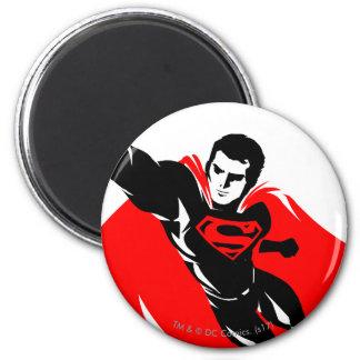 Justice League | Superman Flying Noir Pop Art Magnet