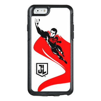 Justice League   Superman Flying Noir Pop Art OtterBox iPhone 6/6s Case