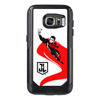 Justice League | Superman Flying Noir Pop Art OtterBox Samsung Galaxy S7 Case