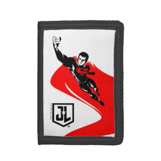 Justice League | Superman Flying Noir Pop Art Tri-fold Wallet
