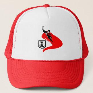 Justice League   Superman Flying Noir Pop Art Trucker Hat