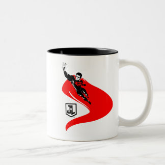 Justice League | Superman Flying Noir Pop Art Two-Tone Coffee Mug
