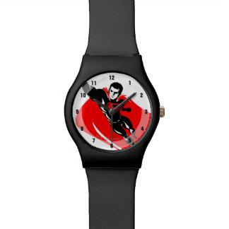 Justice League | Superman Flying Noir Pop Art Watch