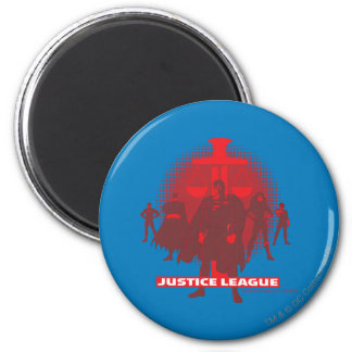 Justice League Sword and Scale 6 Cm Round Magnet