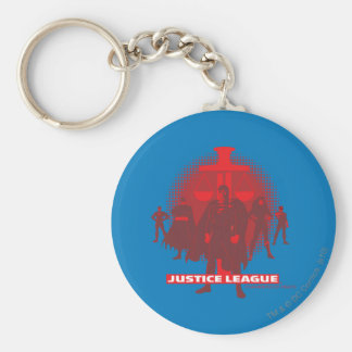 Justice League Sword and Scale Basic Round Button Key Ring