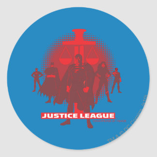 Justice League Sword and Scale Classic Round Sticker
