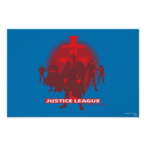Justice League Sword and Scale Poster