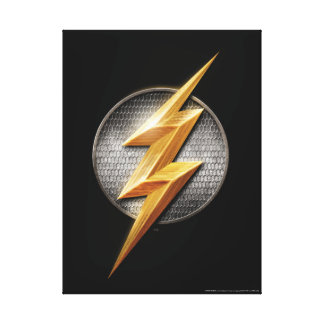 Justice League | The Flash Metallic Bolt Symbol Canvas Print