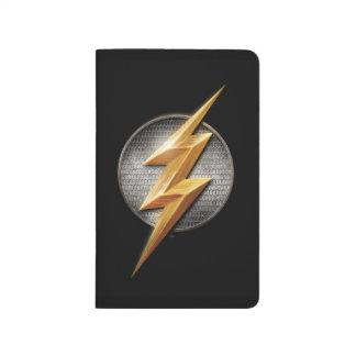 Justice League | The Flash Metallic Bolt Symbol Journal